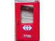Part No: 4182pb047  Name: Door 1 x 4 x 5 Train Right with White Double Arrow (Swiss Federal Railways) and '7720' Pattern (Sticker) - Set 7720
