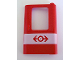 Part No: 4182px1  Name: Door 1 x 4 x 5 Train Right with White Stripe and Train Logo Pattern