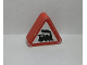 Part No: 42025pb10  Name: Duplo, Brick 1 x 3 x 2 Triangle Road Sign with Steam Engine Pattern (Sticker) - Set 9211