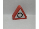 Part No: 42025pb13  Name: Duplo, Brick 1 x 3 x 2 Triangle Road Sign with 3 Round Arrows Pattern (Sticker) - Set 9211