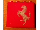 Part No: 4215bpb57L  Name: Panel 1 x 4 x 3 - Hollow Studs with Ferrari Silver Horse on Red Background Pattern, Model Left (Sticker)