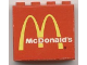 Part No: 4215pb047  Name: Panel 1 x 4 x 3 with 'McDonald's' and Golden Arches Pattern (Sticker) - Set 3438