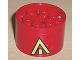 Part No: 4266pb02  Name: Wheel 20 x 30 Technic with Yellow Arrow Pattern (Sticker) - Set 8856