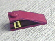Part No: 4286pb002  Name: Slope 33 3 x 1 with Upside-down Black Number 1 on Yellow Rectangle Pattern Model Left (Sticker) - Set 8209