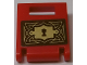 Part No: 4346pb37  Name: Container, Box 2 x 2 x 2 Door with Slot and Gold Key Hole and Filigree Pattern (Sticker) - Set 41184