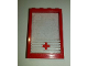 Part No: 4347pb08  Name: Window 1 x 4 x 5 with Fixed Glass and 5 White Stripes and Red Cross Pattern (Sticker) - Set 6380