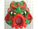 Part No: 43853posa  Name: Bionicle Mask Hau Nuva Poisoned - Green Forehead