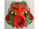 Part No: 43853posb  Name: Bionicle Mask Hau Nuva Poisoned - Red Forehead