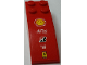 Part No: 44126pb041  Name: Slope, Curved 6 x 2 with Shell, Alice, Bridgestone, FIAT and Ferrari Logos Top and 'MUBADALA ABU DHABI' Both Sides Pattern (Stickers)