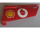 Part No: 44350pb001  Name: Technic, Panel Fairing #20 Large Long, Small Hole, Side A with Shell and Vodafone Logo Pattern (Sticker) - Set 8386