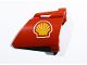 Part No: 44352pb21  Name: Technic, Panel Fairing #22 Large Short, Small Hole, Side A with Shell Logo Pattern (Sticker) - Set 8674