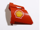 Part No: 44353pb21  Name: Technic, Panel Fairing #23 Large Short, Small Hole, Side B with Shell Logo Pattern (Sticker) - Set 8674