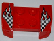 Part No: 44674pb20  Name: Vehicle, Mudguard 2 x 4 with Headlights Overhang with Checkered Flames Pattern on Both Sides (Stickers) - Set 8198