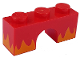 Part No: 4490pb03  Name: Brick, Arch 1 x 3 with Bright Light Orange Flames Pattern (Angry Kitty)
