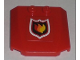 Part No: 45677pb026  Name: Wedge 4 x 4 x 2/3 Triple Curved with Fire Logo Pattern (Sticker) - Set 7206