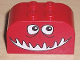 Part No: 4744pb09  Name: Brick, Modified 2 x 4 x 2 Double Curved Top with Monster Face Open Smile Pattern