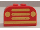 Part No: 4744pb21  Name: Brick, Modified 2 x 4 x 2 Double Curved Top with Yellow Car Grille and Headlights Pattern