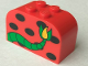 Part No: 4744px24  Name: Brick, Modified 2 x 4 x 2 Double Curved Top with Monster Spots and Tail Pattern