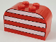 Part No: 4744px4  Name: Brick, Modified 2 x 4 x 2 Double Curved Top with White Stripes Pattern