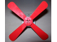 Part No: 4751a  Name: Propeller 4 Blade 13 Diameter with Studs and Cross