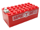 Part No: 4760c01pb05  Name: Electric 9V Battery Box Small with Airport Shuttle Pattern on Both Sides (Stickers) - Set 6399