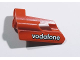 Part No: 47712pb06  Name: Technic, Panel Fairing #24 Small Short, Small Hole, Side B with 'vodafone' Pattern (Sticker) - Set 8674