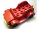 Part No: 4853c01  Name: Duplo Car with 2 x 4 Studs and Running Boards, Yellow Bumper, Black Wheels