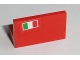 Part No: 4865pb012L  Name: Panel 1 x 2 x 1 with Italian Flag on Red Background Pattern Pattern Model Left Side (Sticker) - Set 8654 / 8375 / 8673