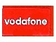 Part No: 4865pb030  Name: Panel 1 x 2 x 1 with 'vodafone' Pattern (Sticker) - Set 8362