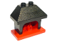 Part No: 4918c01  Name: Duplo Furniture Fireplace with Black Top with 2 Studs