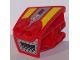 Part No: 49817pb02  Name: Technic, Panel RC Car Mudguard Front, Right with Vents and 'Red Beast' Pattern (Stickers) - Set 8378