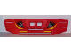 Part No: 49821pb01  Name: Technic, Panel RC Car Spoiler with Vents and Yellow and Gray Stripes Pattern (Stickers) - Set 8378