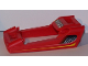 Part No: 49822pb02  Name: Technic, Panel RC Car Frame / Windscreen with Side Vents and Lights Pattern (Stickers) - Set 8378