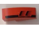 Part No: 50950pb008R  Name: Slope, Curved 3 x 1 No Studs with Black Tail and Engine Pattern Model Right (Sticker) - Set 8124