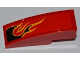Part No: 50950pb040L  Name: Slope, Curved 3 x 1 with Black Flames with Orange Outline Pattern Model Left Side (Sticker) - Set 8227