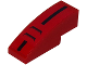 Part No: 50950pb084  Name: Slope, Curved 3 x 1 with Black Stripe and 2 Air Vents on Red Background Pattern (Sticker) - Set 8147