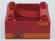 Part No: 51547pb06  Name: Duplo, Train Cab / Tender Base with Bottom Tube and 52088 Locomotive Pattern