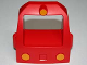 Part No: 51553px1  Name: Duplo, Train Passenger Locomotive Front with Three Yellow Headlights Pattern