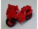 Part No: 52035c03  Name: Riding Cycle Motorcycle City with Black Chassis (Long Fairing Mounts) and Red Wheels