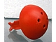Part No: 54043b  Name: Duplo Cannon Ball 1/2 with Large Axle Connector and 4 Holes in Top