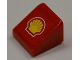 Part No: 54200pb001  Name: Slope 30 1 x 1 x 2/3 with Shell Logo Pattern (Sticker)