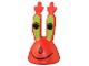 Part No: 54874pb01  Name: Minifigure, Head Modified Mr. Krabs