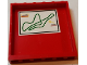 Part No: 59349pb133  Name: Panel 1 x 6 x 5 with Green Outlined Race Track Map Pattern on Inside (Sticker) - Set 75913