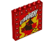 Part No: 59349pb157  Name: Panel 1 x 6 x 5 with 'CABOOM' and Daredevil on Motorcycle Pattern