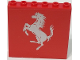 Part No: 59349pb159  Name: Panel 1 x 6 x 5 with Silver Ferrari Horse on Red Background Pattern (Sticker) - Set 8185