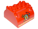 Part No: 59684pb03  Name: Duplo Container Tank Upper Section with Stripes and  Fire Logo Pattern