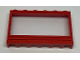 Part No: 604ac01  Name: Window 1 x 6 x 3 Panorama with Solid Studs and Fixed Glass