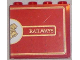 Part No: 60581pb029R  Name: Panel 1 x 4 x 3 with Side Supports - Hollow Studs with Half Hogwarts Logo and 'RAILWAYS' Pattern (Sticker) - Set 4841