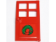 Part No: 60623pb01  Name: Door 1 x 4 x 6 with 4 Panes and Stud Handle with Green Christmas Wreath Pattern (Sticker) - Set 10229