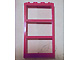 Part No: 6160  Name: Window 1 x 4 x 6 Frame with 3 Panes, Fixed Glass with NO GLASS
